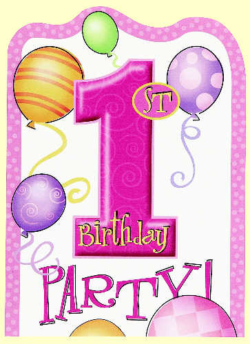 1st Birthday Pink Invitations Background