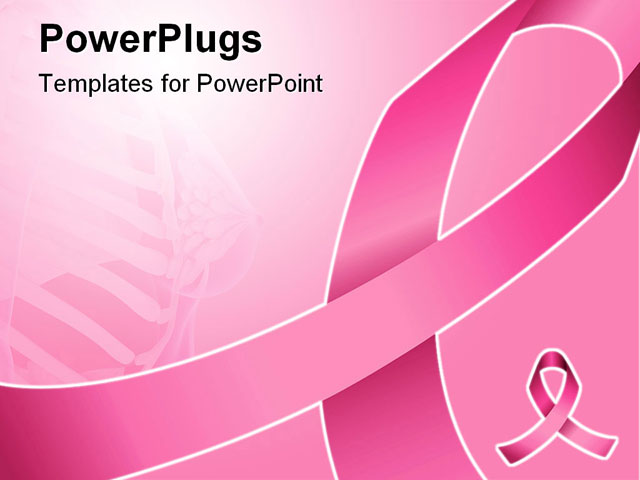 Background Breast Cancer Awareness And Support Powerpoint Template