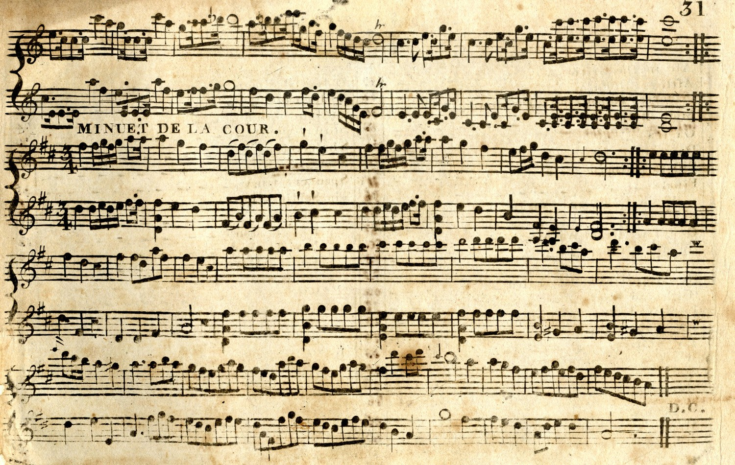 Classical Sheet Music Background