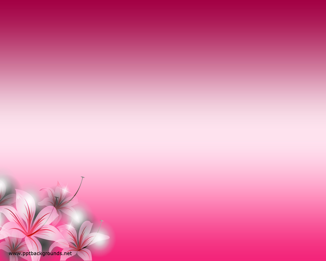 Free Pink Flowers Backgrounds For Powerpoint Flower Ppt Templates Hq