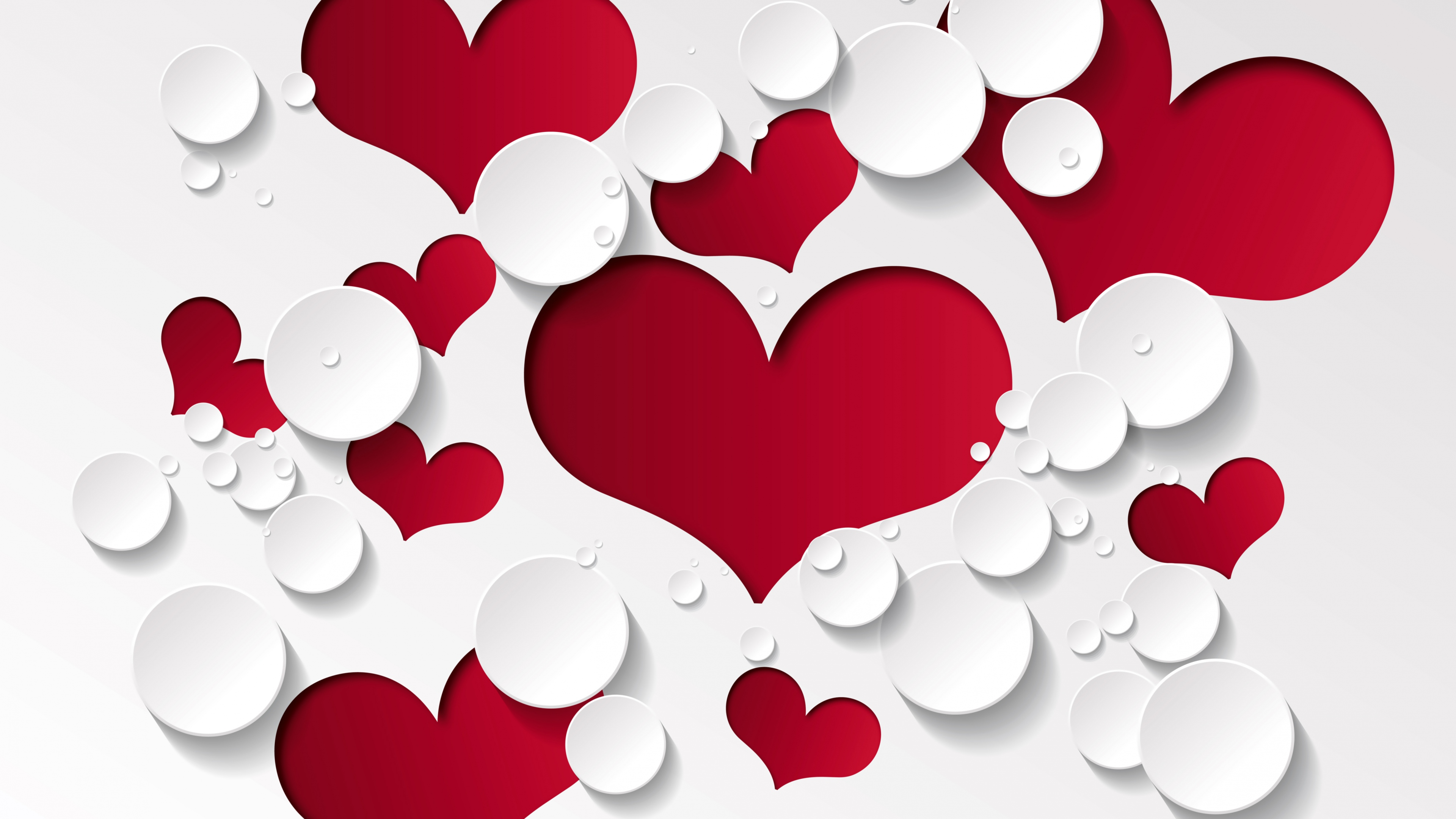 red and white love heart wallpaper hd