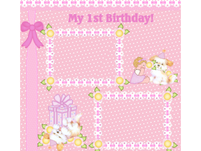 1st Birthday, First Birthday Wording Background