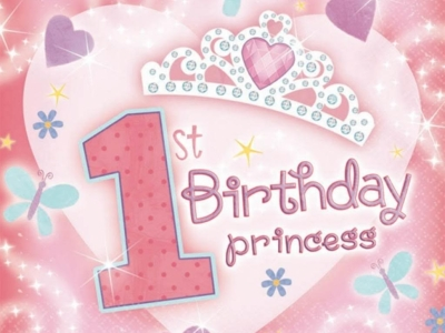 1st Birthday Princess Background