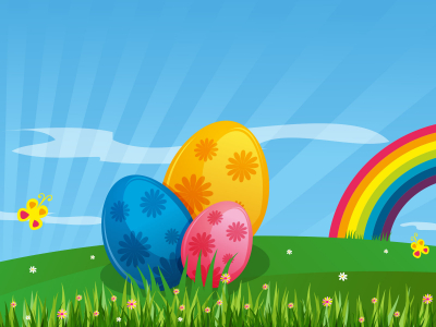 happy eggs easter background #6104