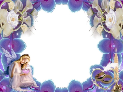 Angel Backgrounds For Powerpoint Border And Frame Ppt Templates #4948