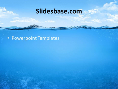 ocean fish submarine diving dish blue powerpoint template Slide1 (3 #5537