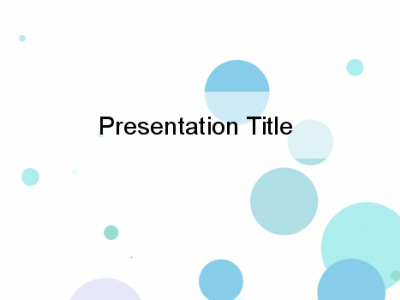 Blue Bubbles On A White Background  Circles PowerPoint Background