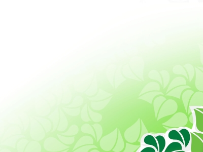 Green Vector Flower Backgrounds For PowerPoint Flower PPT Templates #6548