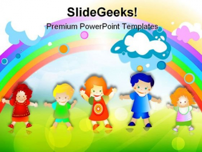 Happy Kids Children Powerpoint Templates And Powerpoint Backgrounds #5612