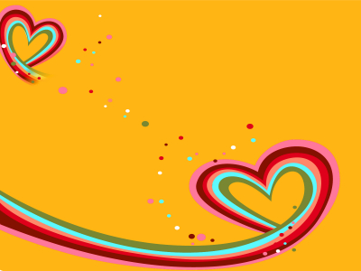 Heart Against Love Backgrounds  Love, Orange, Red  PPT Backgrounds