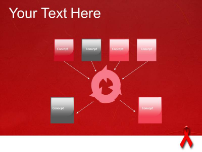 HIV PowerPoint Template, PowerPoint Background, Template PowerPoint