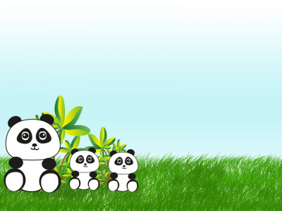 In China Backgrounds  Animals, Green, Grey, White  PPT Backgrounds