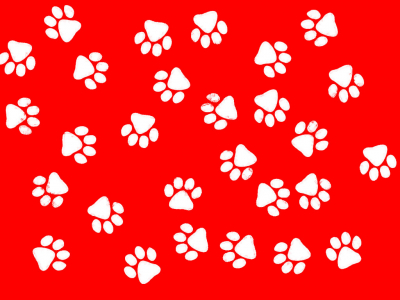 Is A Lourful Red And White Paw Print Background For Your Desktop