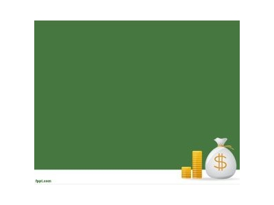 Or Investment Presentations The Green Background With Money Design And