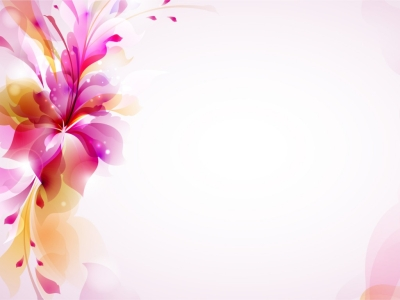 PPT Template Backgrounds  Flowers, Orange, Purple  PPT Backgrounds