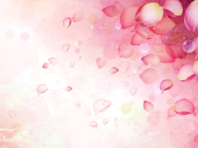 Abstract Pink Flower Background For PowerPoint Templates Continue