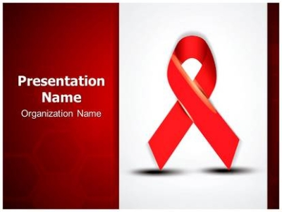 Aids PowerPoint Template Background  SubscriptionTemplates