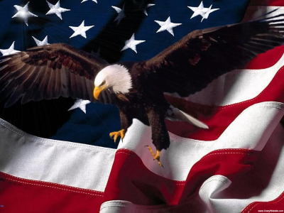 American Eagle Patriotic Background