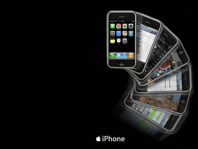 Apple IPhone Template Power Point Backgrounds, Apple IPhone Template