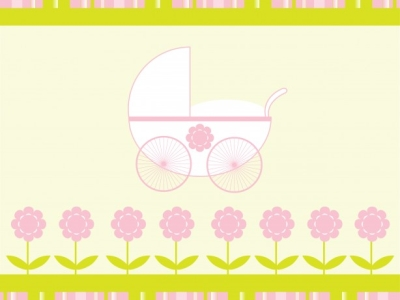 Baby Girl Stroller Background Free Stock Photo Public Domain