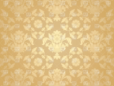 Beige Victorian Wallpaper With Floral Pattern, 18912, Backgrounds