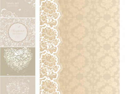 Beige Wedding Background Vector  Free Vectors & Images In EPS And AI