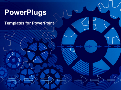 Best PowerPoint Template  Vector Gears Engineering Technology