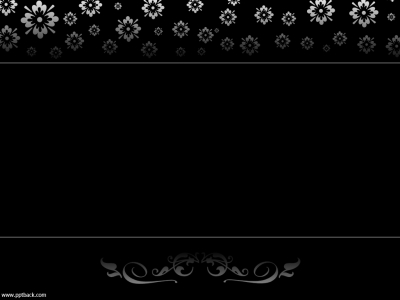 Black White Ornate Flowers Free PPT Backgrounds For Your PowerPoint