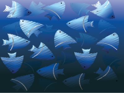 Blue Fish Powerpoint Animals Design Backgrounds  Animals, Blue