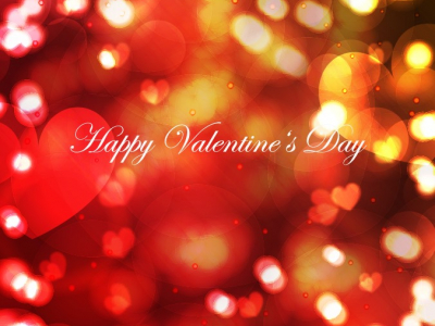 Bokeh Light with Shiny Hearts Valentine's Day Background  Free   #4286
