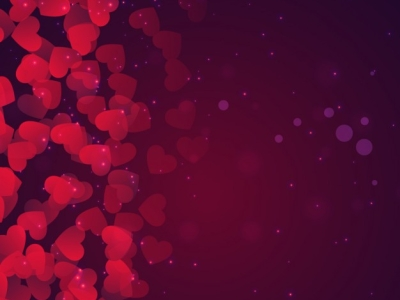 Bokeh valentines day background in purple tones Vector  Free Download #4280