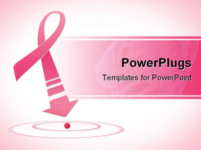 Breast Cancer Awareness Pink Ribbon PowerPoint Template Background