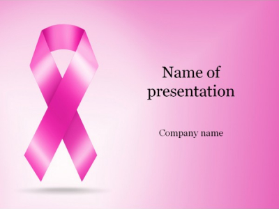 Cancer Ribbon PowerPoint Template & Background For Presentation