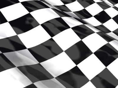 Checkered Racing Flag  Seamless Looping With Reflection HDTV  HD