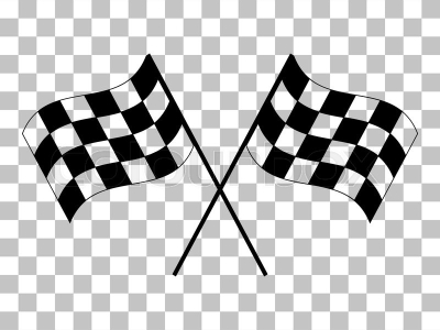 Crossed Checkered Flags Logo Waving In The Wind Nceptual Of Motor