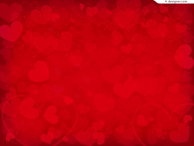 Designer  Beautiful red heart background vector material #3904