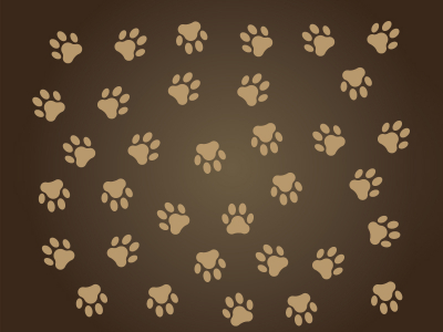 Dog Paw Print Background Brown Dog Paw Print Silhouette  Vectorize