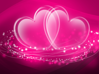Download Glass Hearts Wallpaper