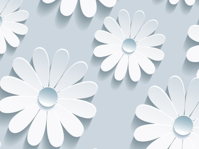 Elegant Flower Pattern On Blue Background For Your Floral Ppt