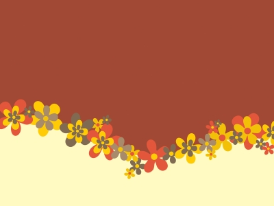 Flowers Design Backgrounds  Brown, Flowers, Grey, White, Yellow  PPT   #6544