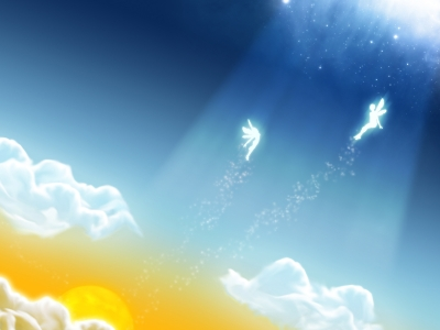 Free Angels In The Sky Backgrounds For PowerPoint  Miscellaneous PPT