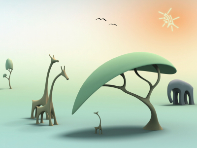 Free Animals In Jungle Backgrounds For PowerPoint  Animal PPT