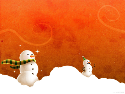 Free Christmas Wallpapers And PowerPoint Backgrounds Pictures Snowman