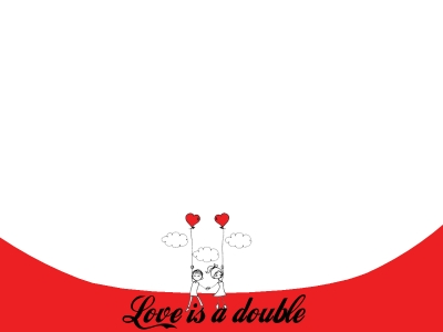 Free Love İs Double Backgrounds For PowerPoint  Love PPT Templates