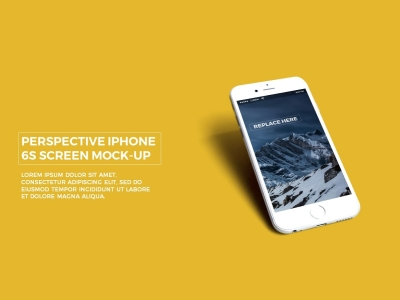 Free PowerPoint Template With Realistic IPhone 6s APP UI Mockup In