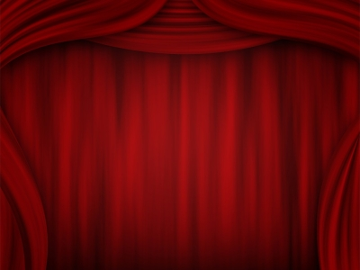 Free Theater Curtain PPT Background Backgrounds For Powerpoint