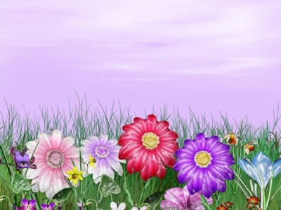Gaze Floral Background
