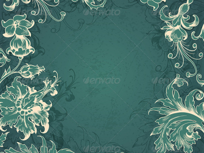 GraphicRiver Green Victorian Background 5901950