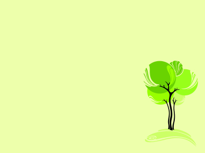 Green Design Tree Backgrounds  Nature  PPT Backgrounds