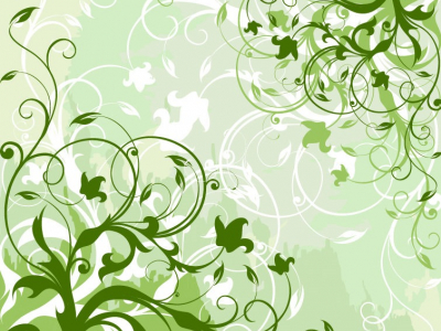 Green Floral Background Vector Graphic  Free Vector Graphics  All